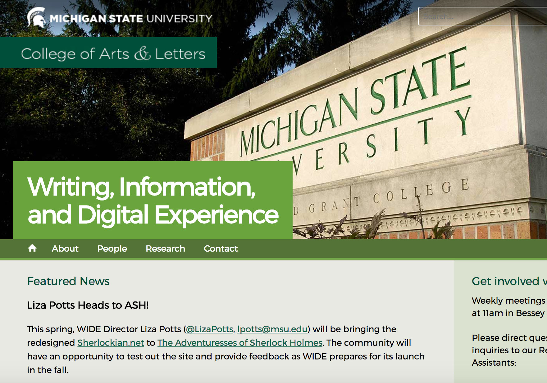 In 2016 I was asked to help with the front end design and web development of a digital book being researched and published by Michigan State University's Wide Research Center.